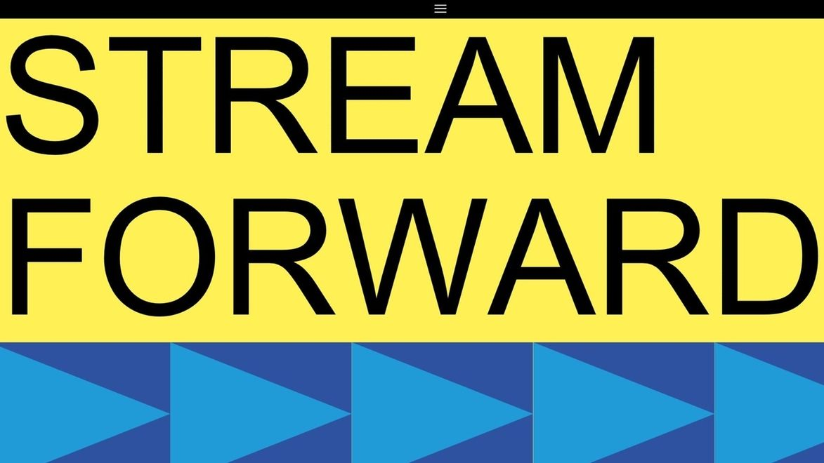 """Logo der Seite """"Stream forward"""" der Stadt Nürnberg"""