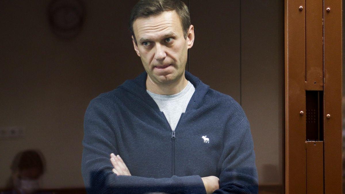 Kremlkritikers Alexej Nawalny am 12.02.2021 bei einer Gerichtsanhörung in Moskau.
