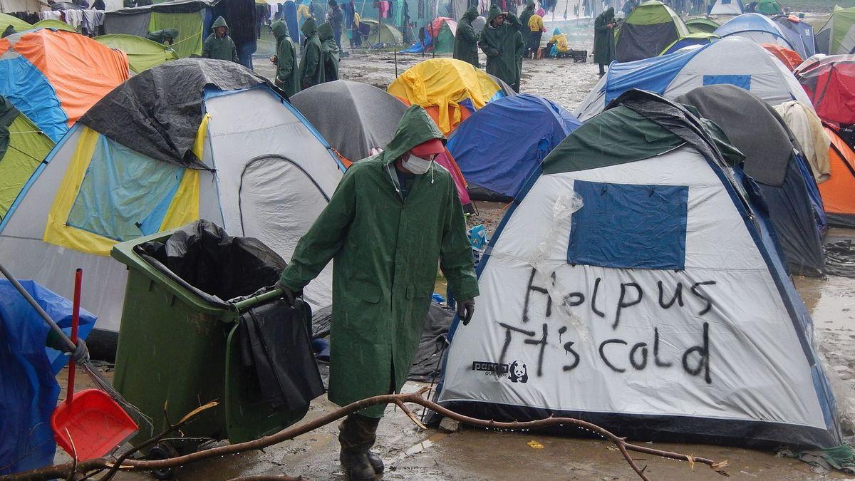 09. März 2016, Griechisches Flüchtlingslager Idomeni.