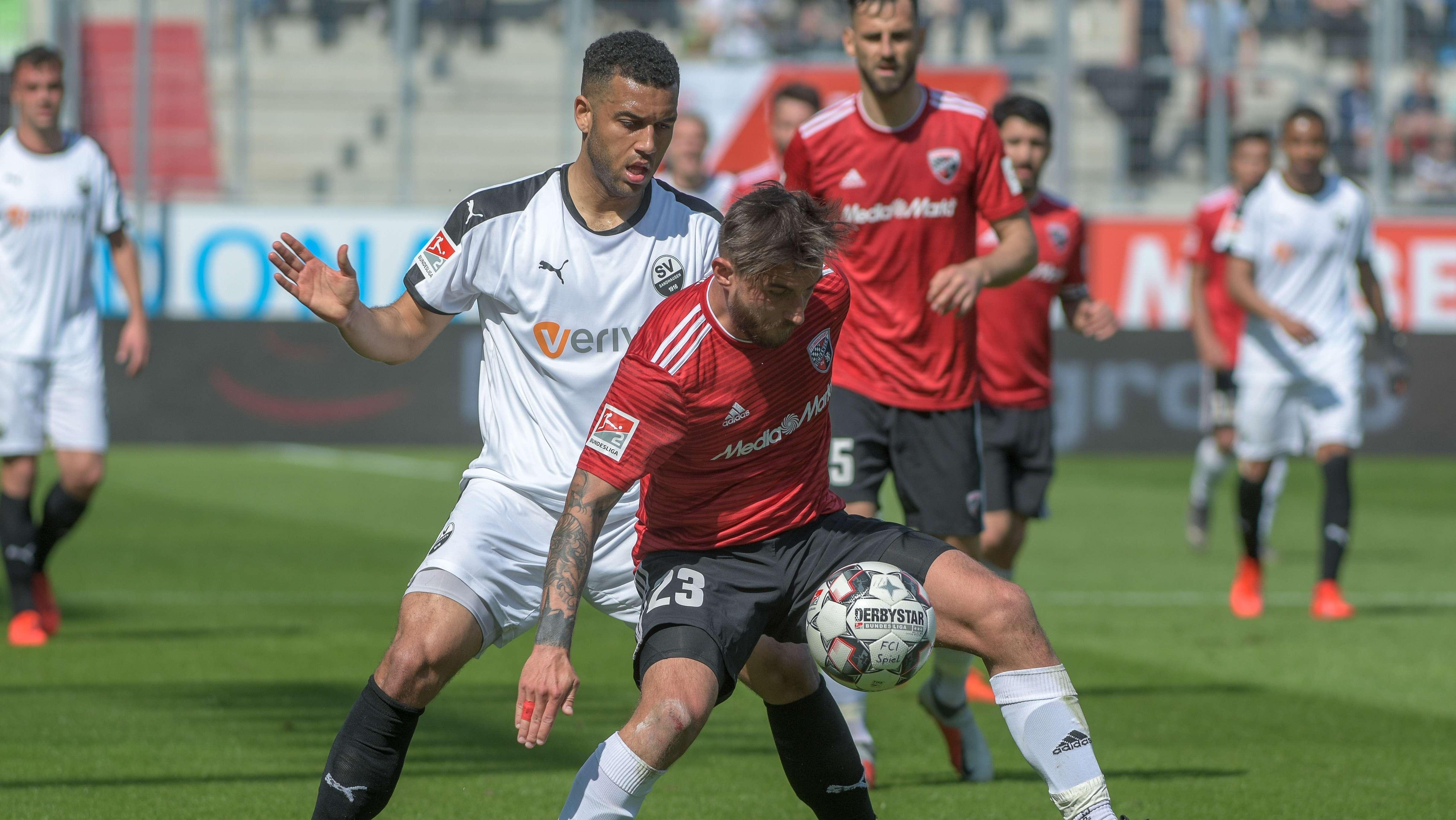 Spielszene FC Ingolstadt - SV Sandhausen