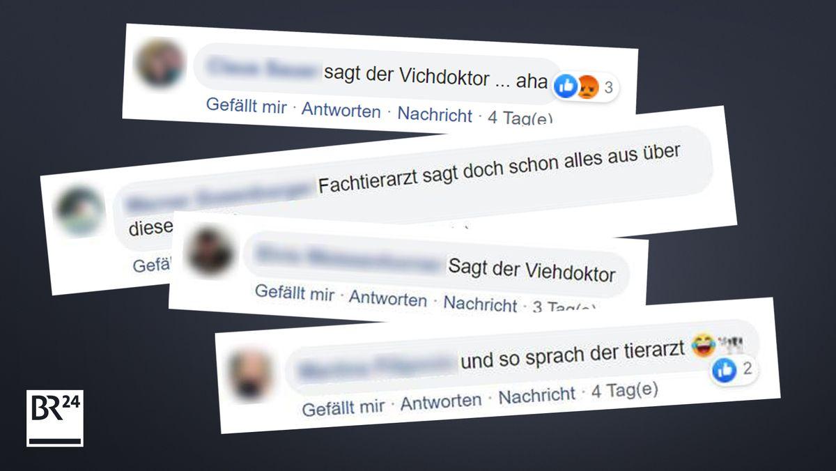 Kommentare auf BR24-Facebook zu Lothar Wieler als Tierarzt.