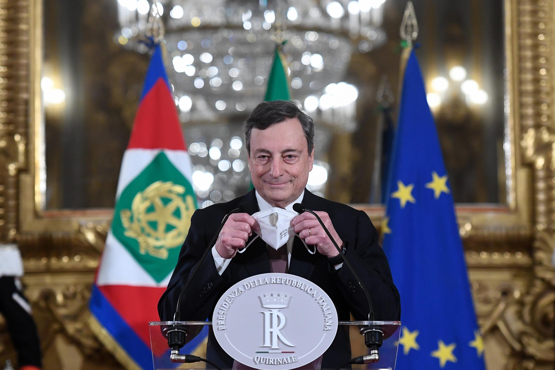 Rom - Draghi als Ministerpräsident Italiens vereidigt