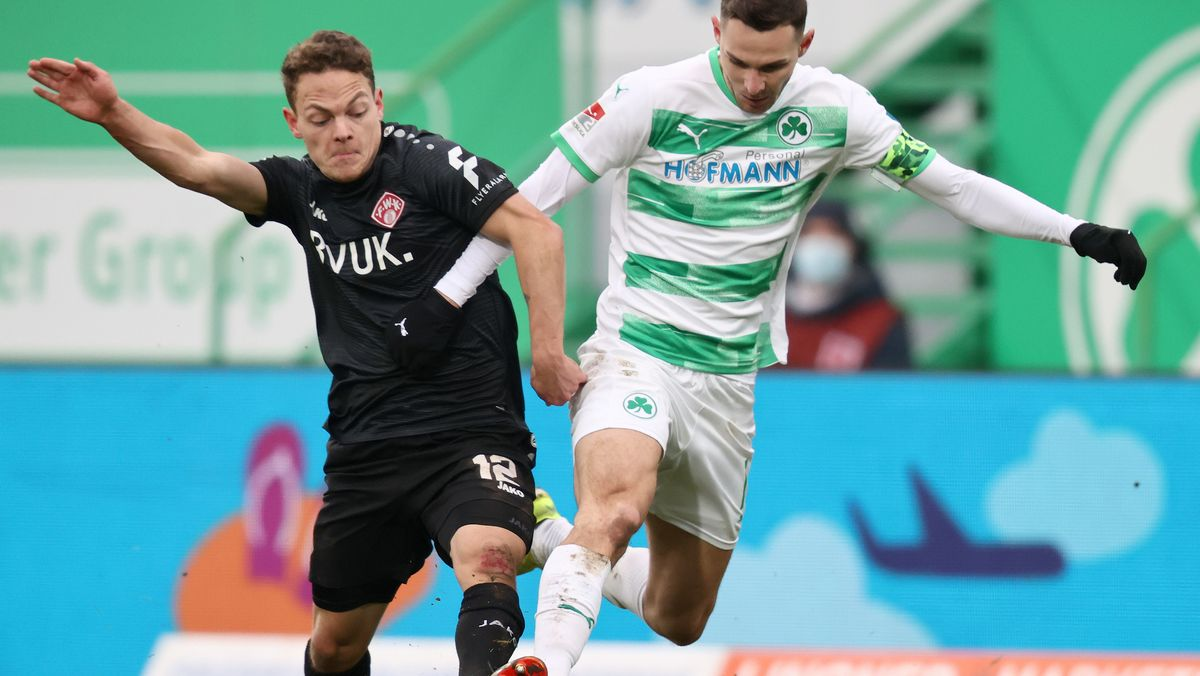 Spielszene SpVgg Greuther Fürth - Würzburger Kickers