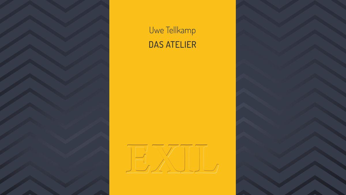 """Buchcover Uwe Tellkamp : """"Das Atelier"""" Das Cover ist gelb monochrom"""