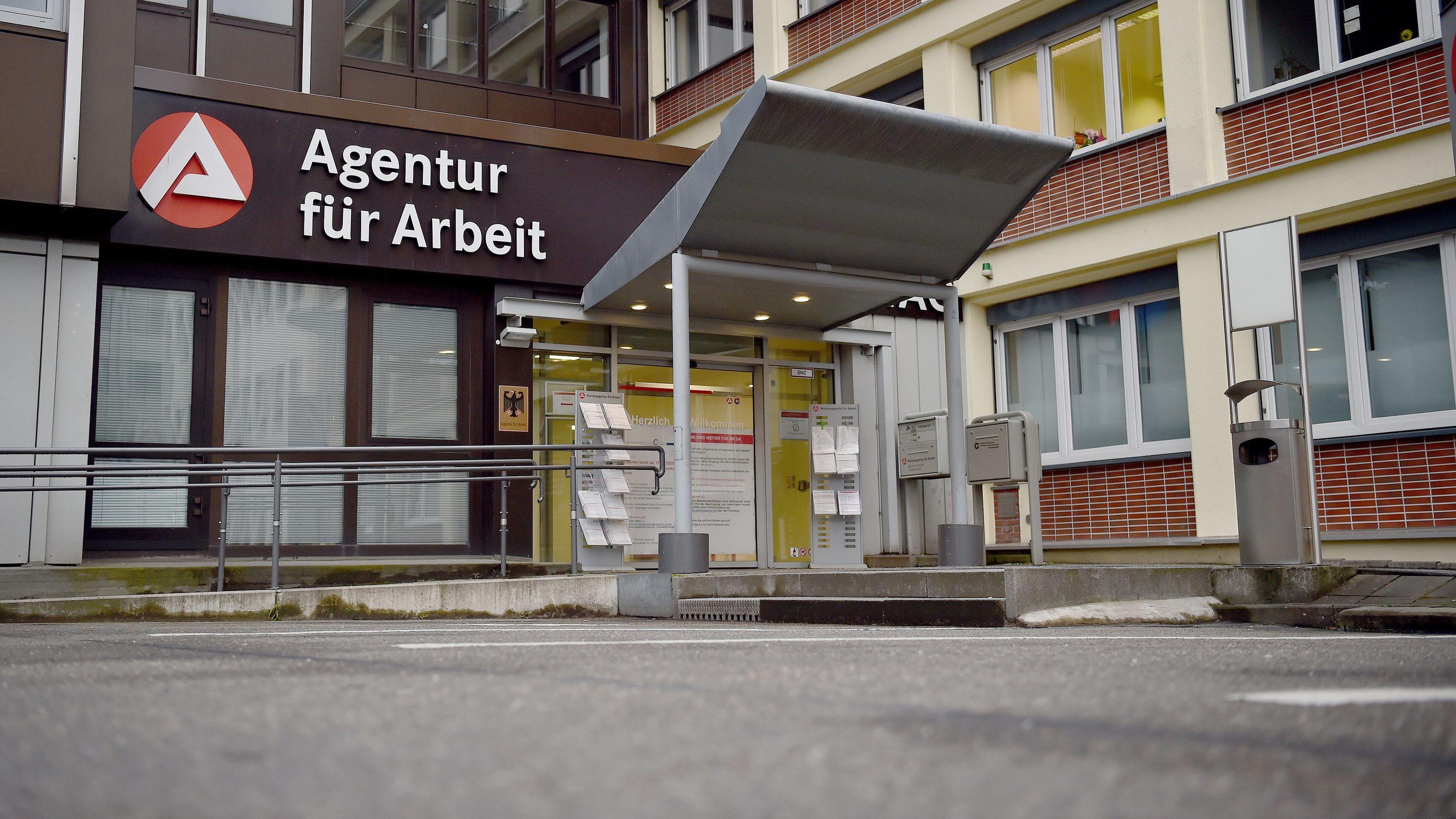 Der Eingangsbereich einer Agentur für Arbeit