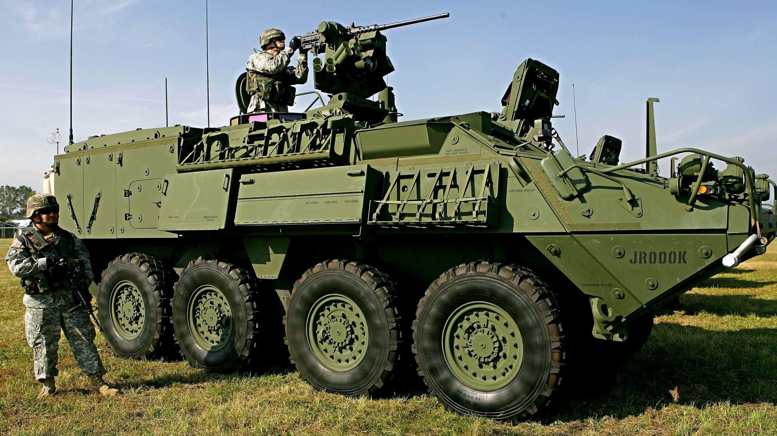 Ein Radpanzer der US-Armee