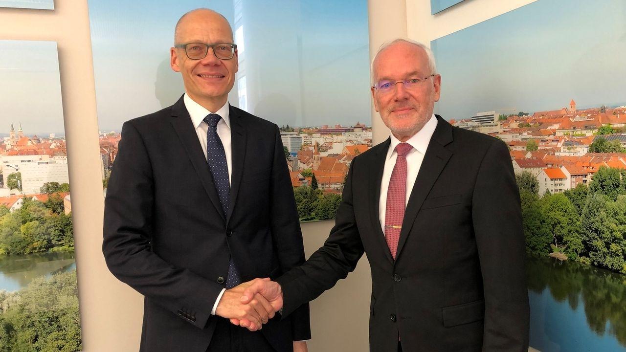 Niels Oberbeck (links) wird Nachfolger von Präsident Michael Braun (rechts)