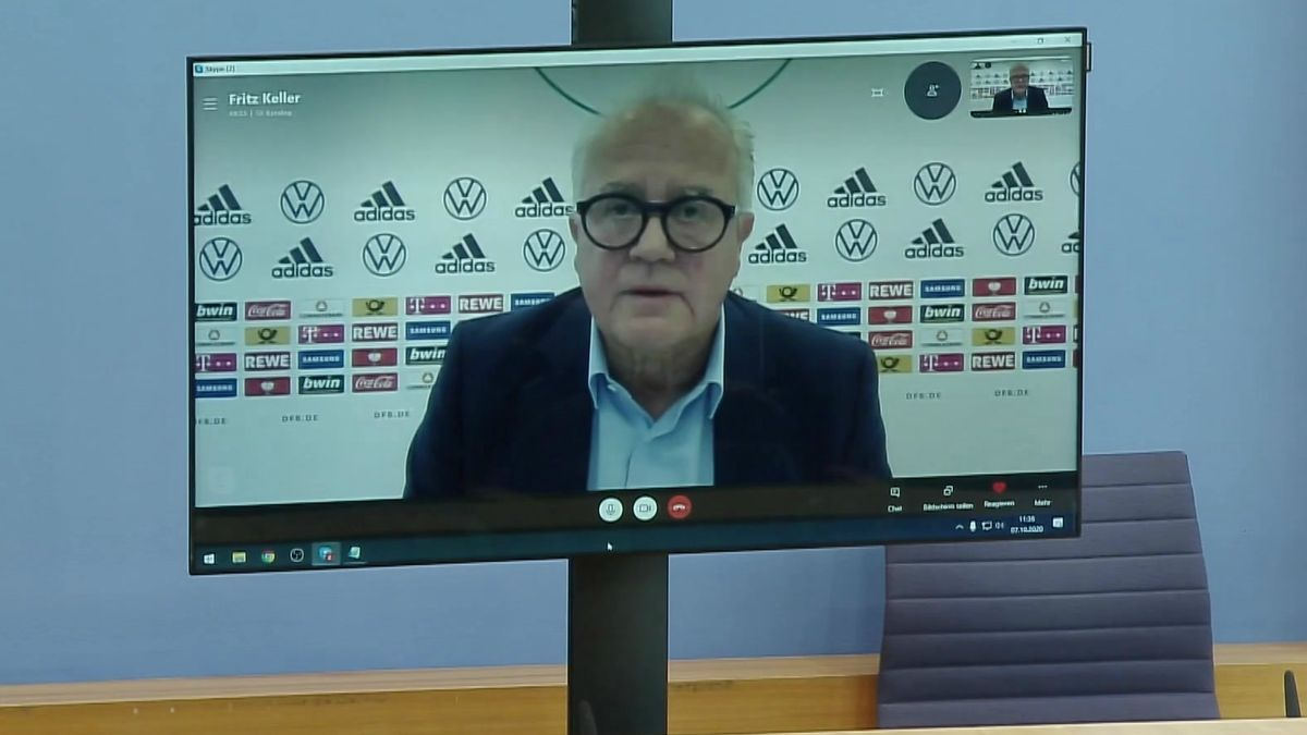DFB-Präsident Fritz Keller in der Bundespressekonferenz