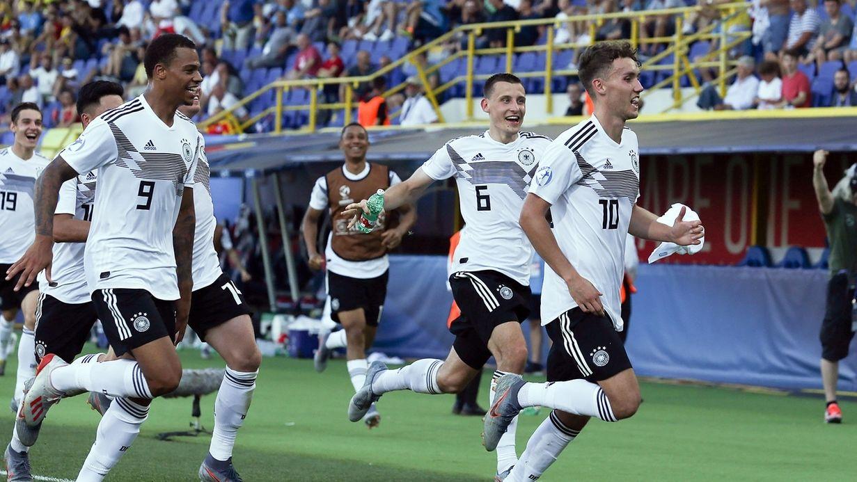 Jubel bei der deutschen U21