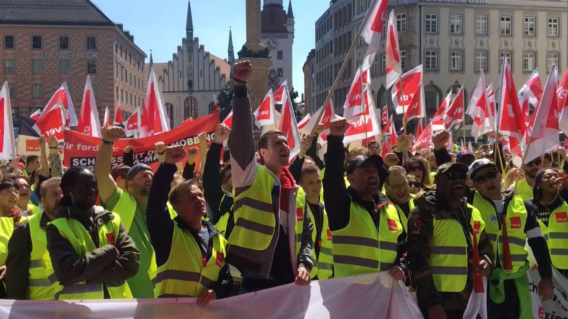 Verdi-Kundgebung in München