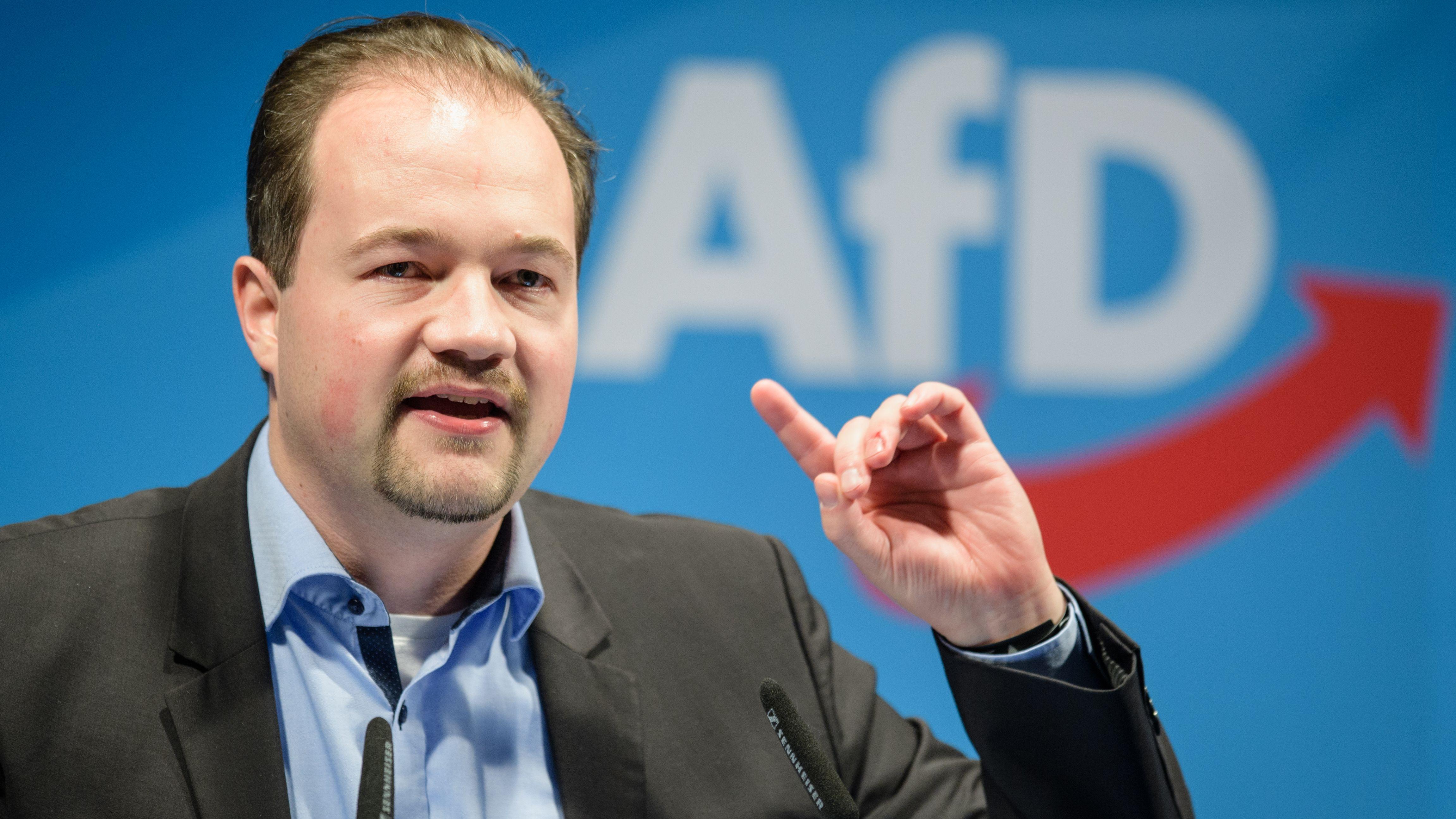 AfD-Landeschef Martin Sichert beim Politischen Aschermittwoch am 6. März 2019 in Osterhofen