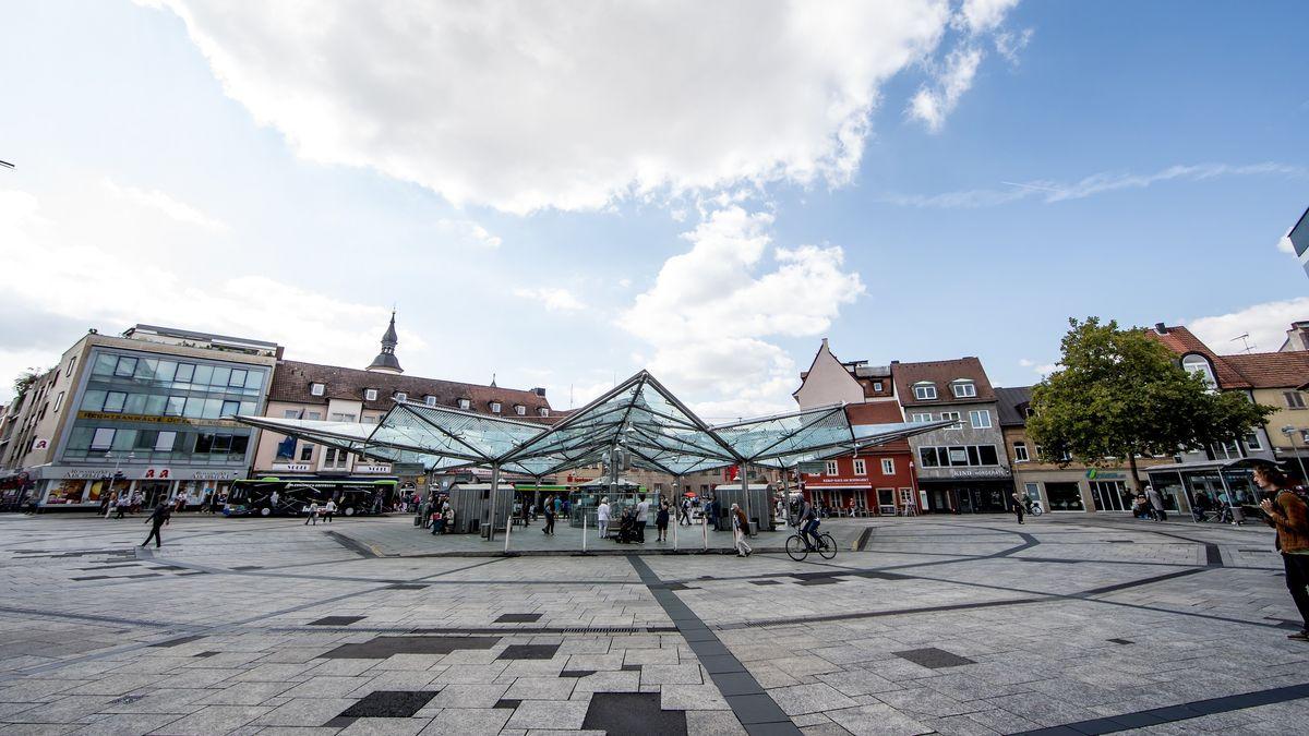 Der Roßmarkt in Schweinfurt