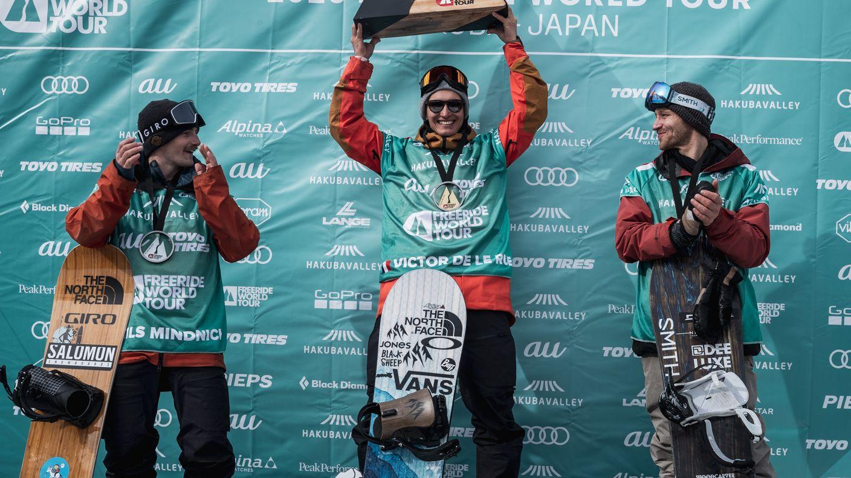 Siegerehrung Snowboard Herren in Hakuba