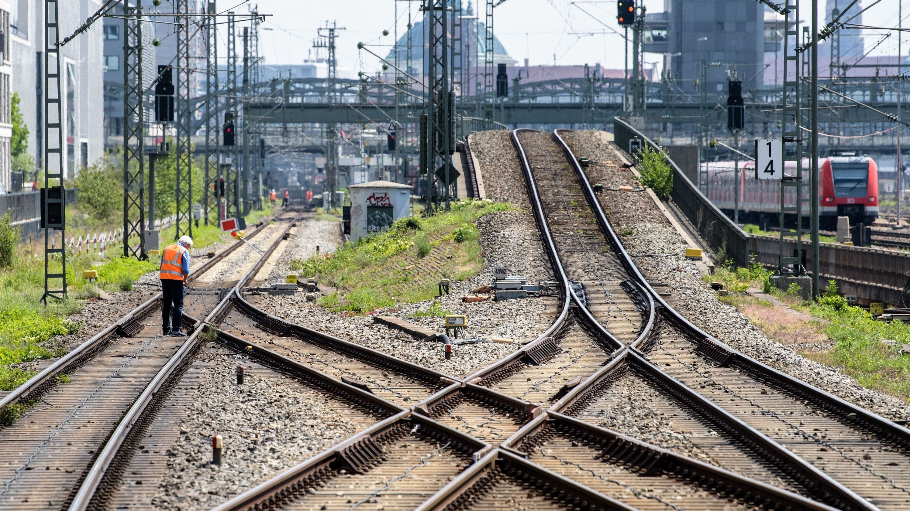 Stammstreckensperrung bei der Münchner S-Bahn (Archivbild).