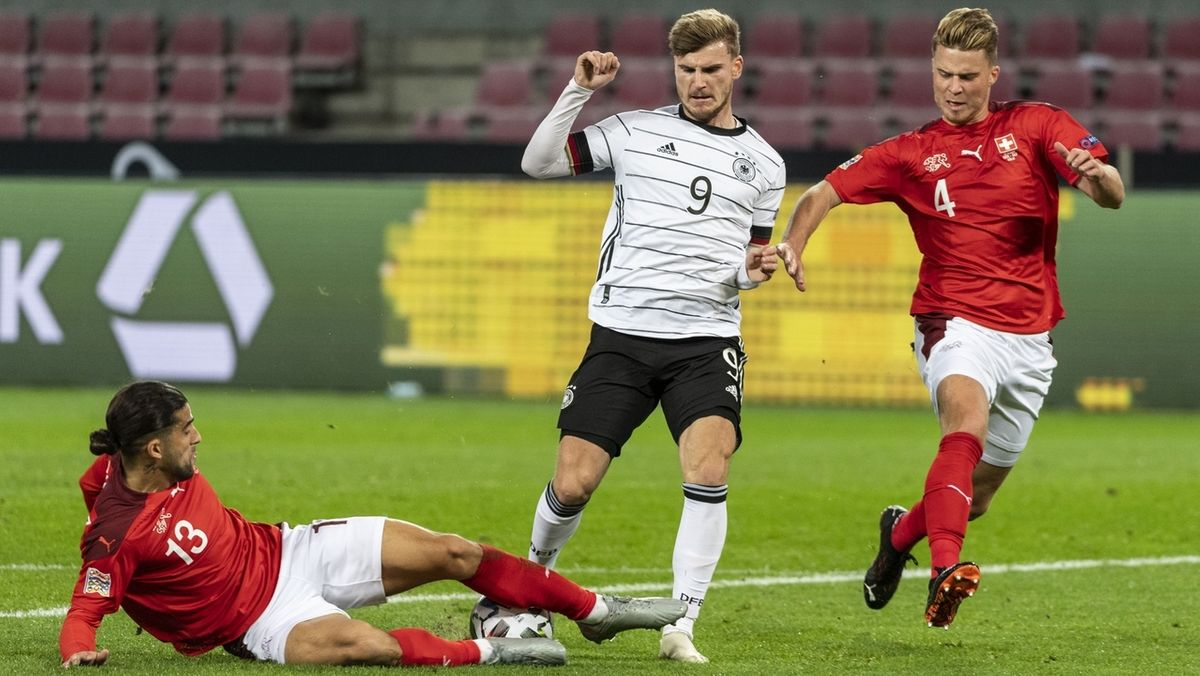 Spielszene Deutschland gegen Schweiz