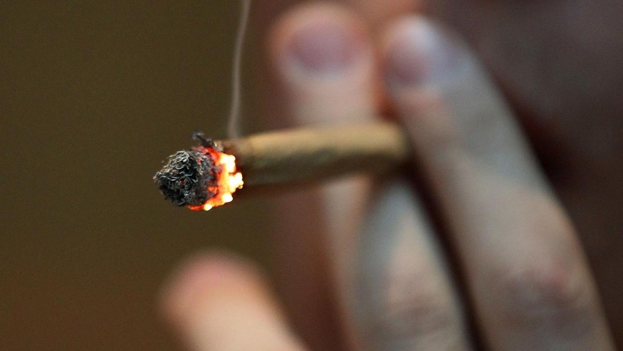 Brennender Joint