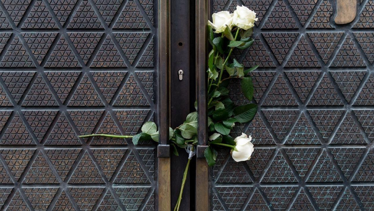 Beileidsbekundungen vor Synagoge in München nach dem Anschlag in Halle