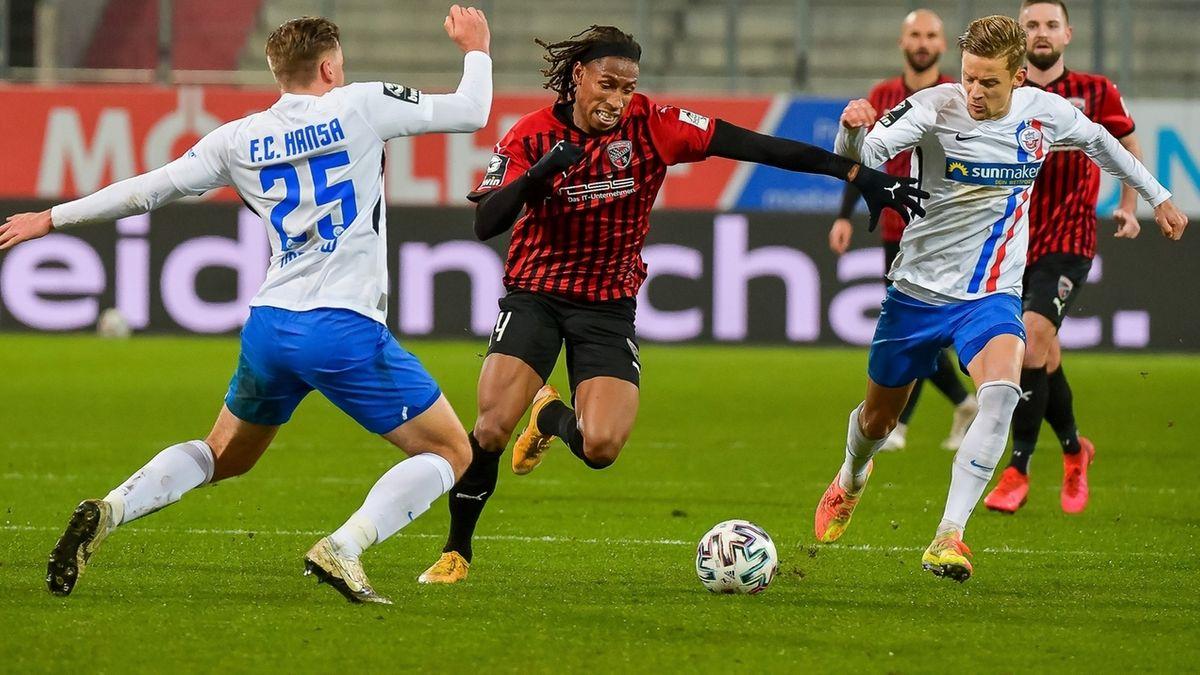 Spielszene FC Ingolstadt - FC Hansa Rostock