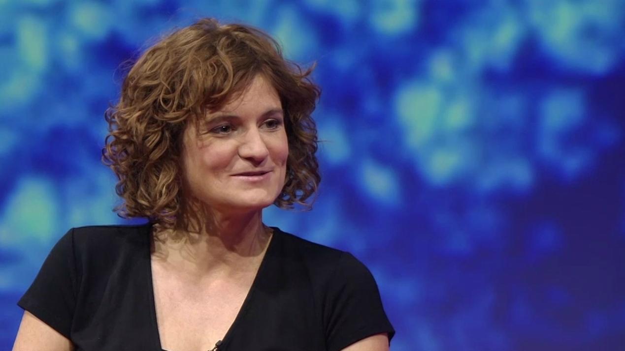 Tatort-Kommissarin Wanda Goldwasser (Eli Wasserscheid) im BR-Studio