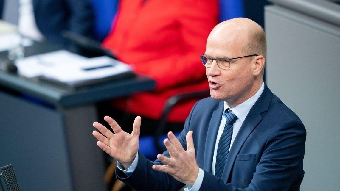 Unions-Fraktionschef Ralph Brinkhaus (CDU) im Bundestag