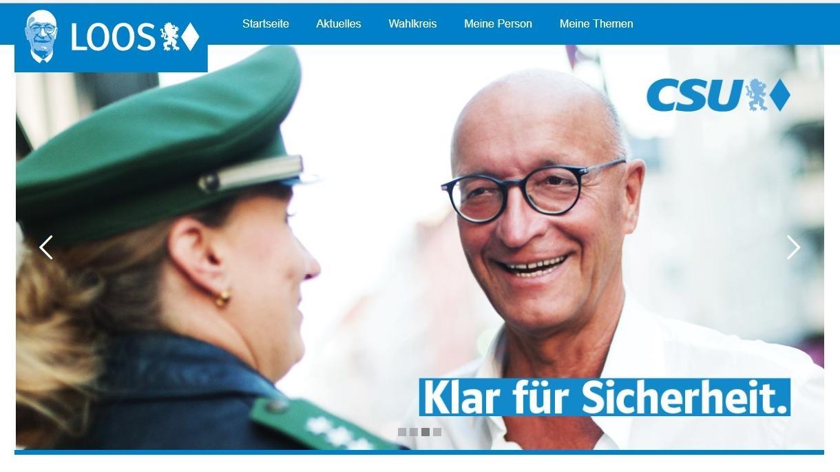 Kandidatenwerbung von Bernhard Loos