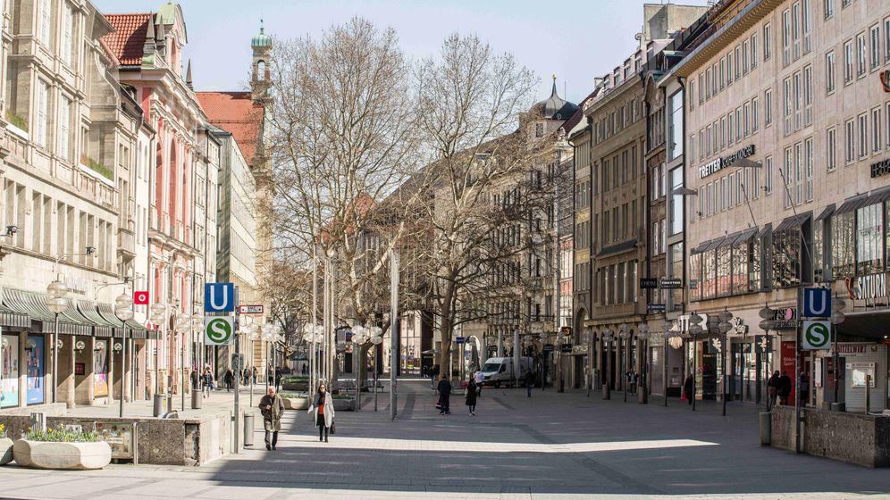 Münchner Innenstadt   Bild:dpa/pa, Sachelle Babbar