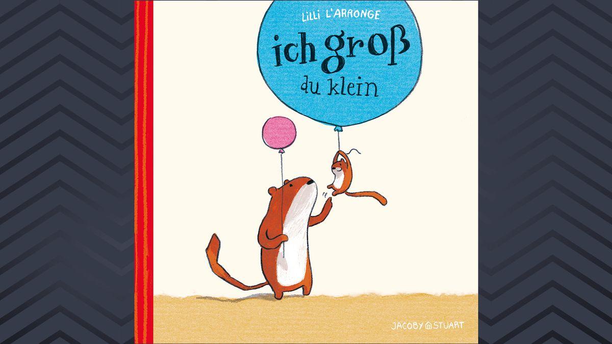 Buchcover mit 2 Wieseln und Luftballons