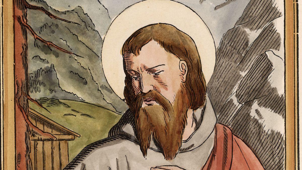 Holzschnitt vom heiligen Valentin