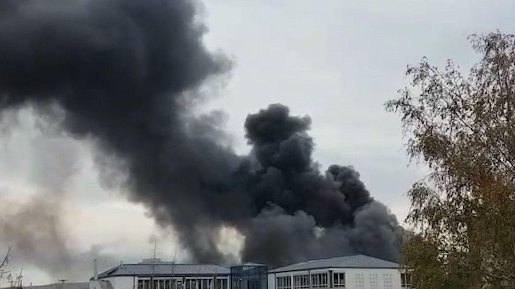 Rauchwolke über dem Bamberger Bosch-Werk