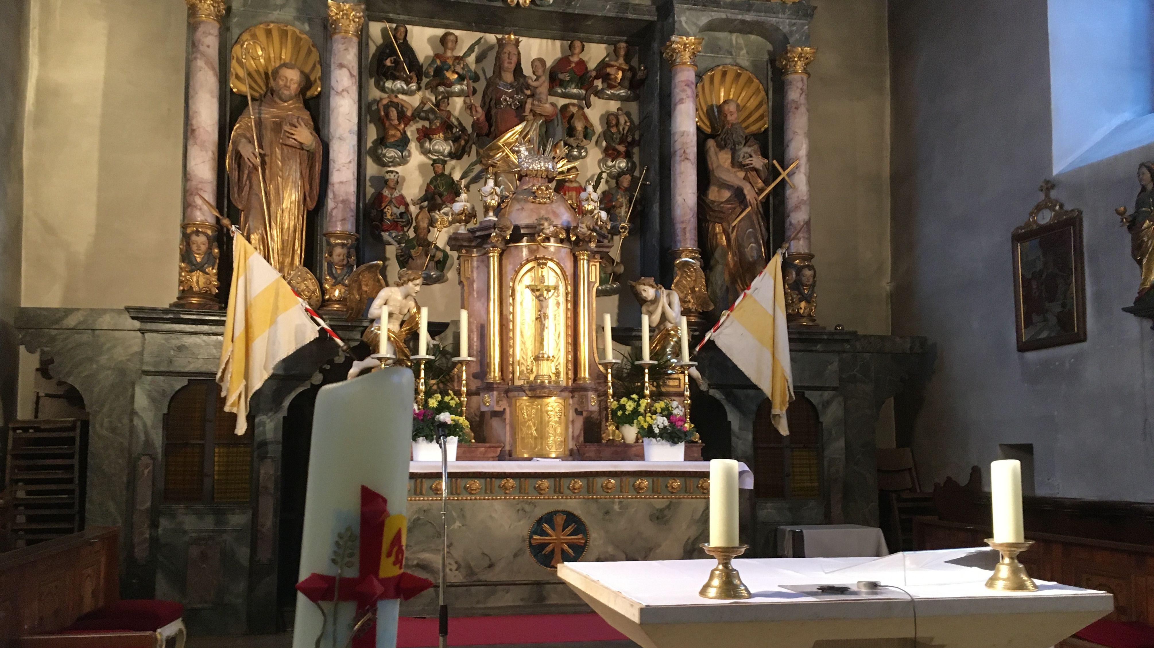 Altar in St. Barbara