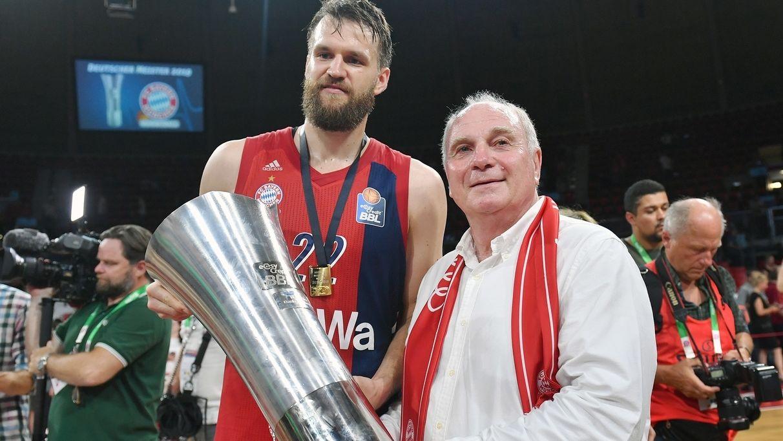 Uli Hoeneß (r.) und Danilo Barthel