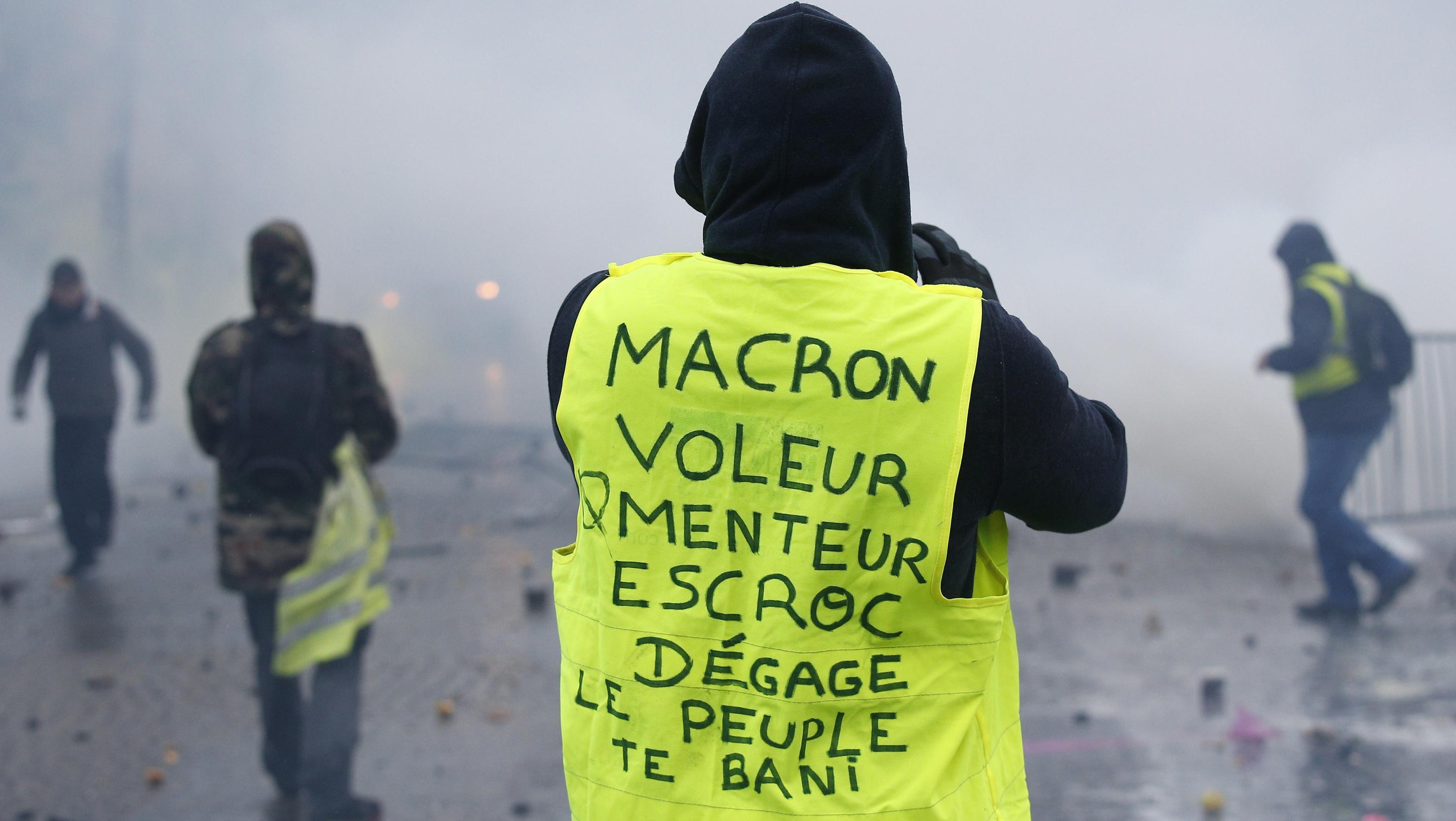 Der gewalttätige Protest der Gelbwesten  in Paris
