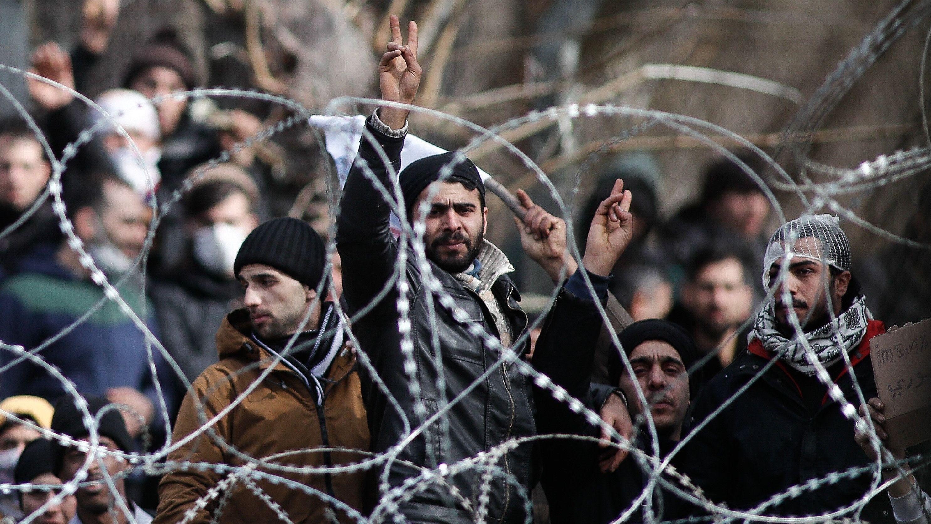 Flüchtlinge im Grenzgebiet zwischen Griechenland und der Türkei