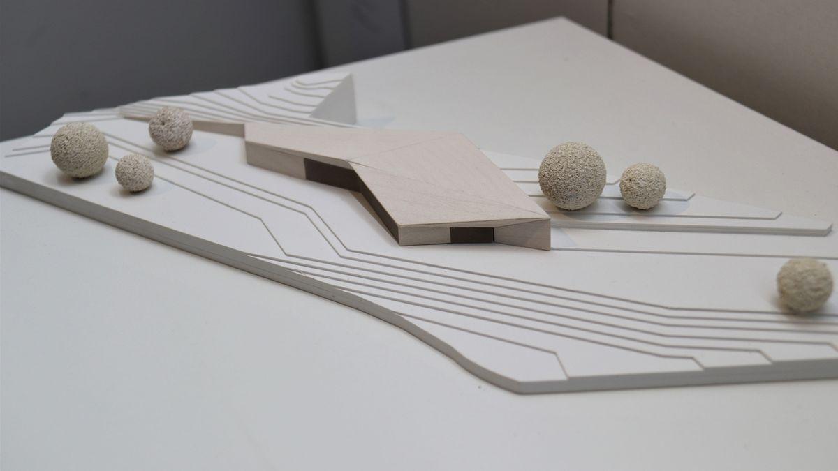 Architektenwettbewerb Mödlareuth: Modell des 1. Preisträgers: Atelier 30 Architekten BDA, Kassel, Grünplan Landschaftsarchitekten BDLA, Hannover