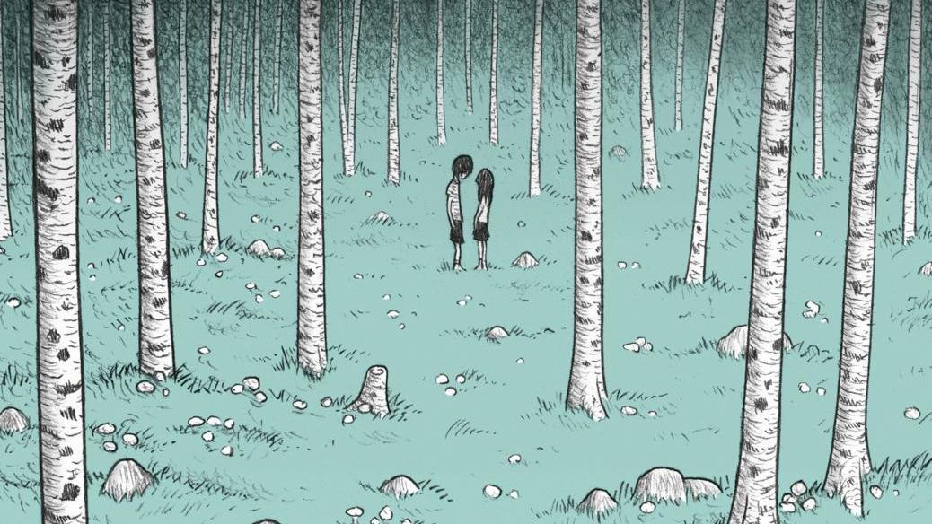 Ein Bild aus glücklichen Tagen. In der Gegenwart der Comic-Geschichte von Lukas Jüliger - nach einer Erzählung von Edgar Allan Poe - finden die zwei Menschen nur noch im virtuellen Phantasie-Raum zueinander.