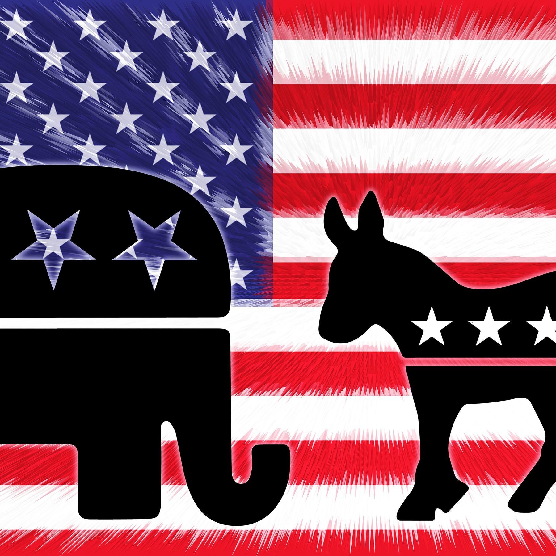 Geschichte der US-Demokraten und Republikaner - Esel und Elefant