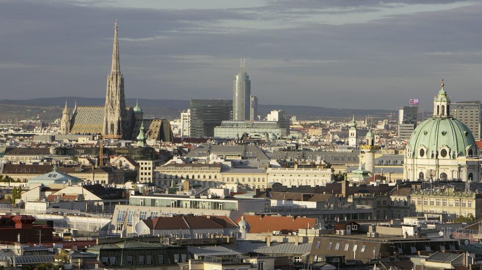 Panorama der Wiener Innenstadt | Bild:pa/dpa/Robert Newald