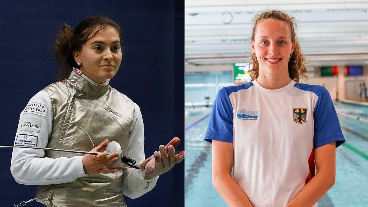 Unterfrankens Olympionikinnen Leonie Ebert und Leonie Beck