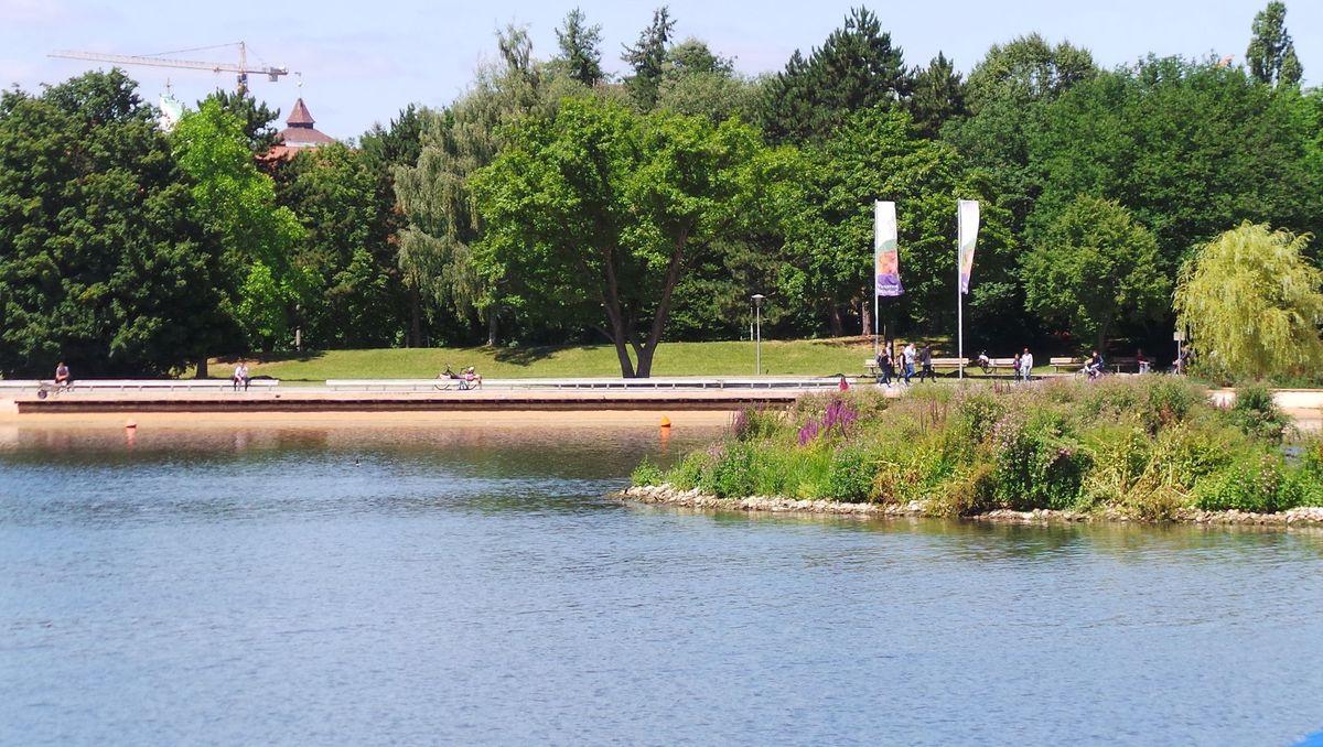 Die Norikusbucht am Wöhrder See in Nürnberg