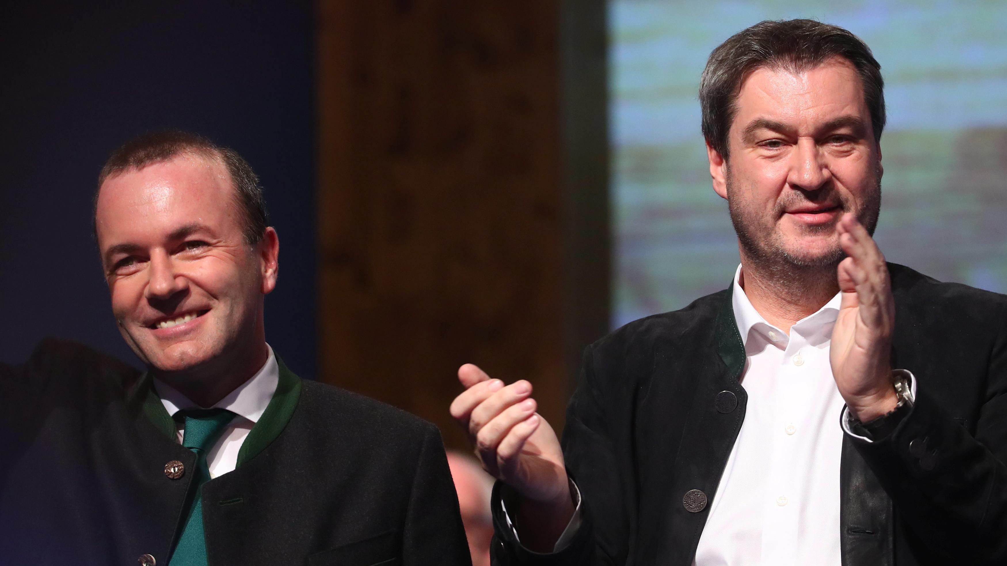 Aschermittwoch: Söder teilt aus, Weber wirbt für Europa