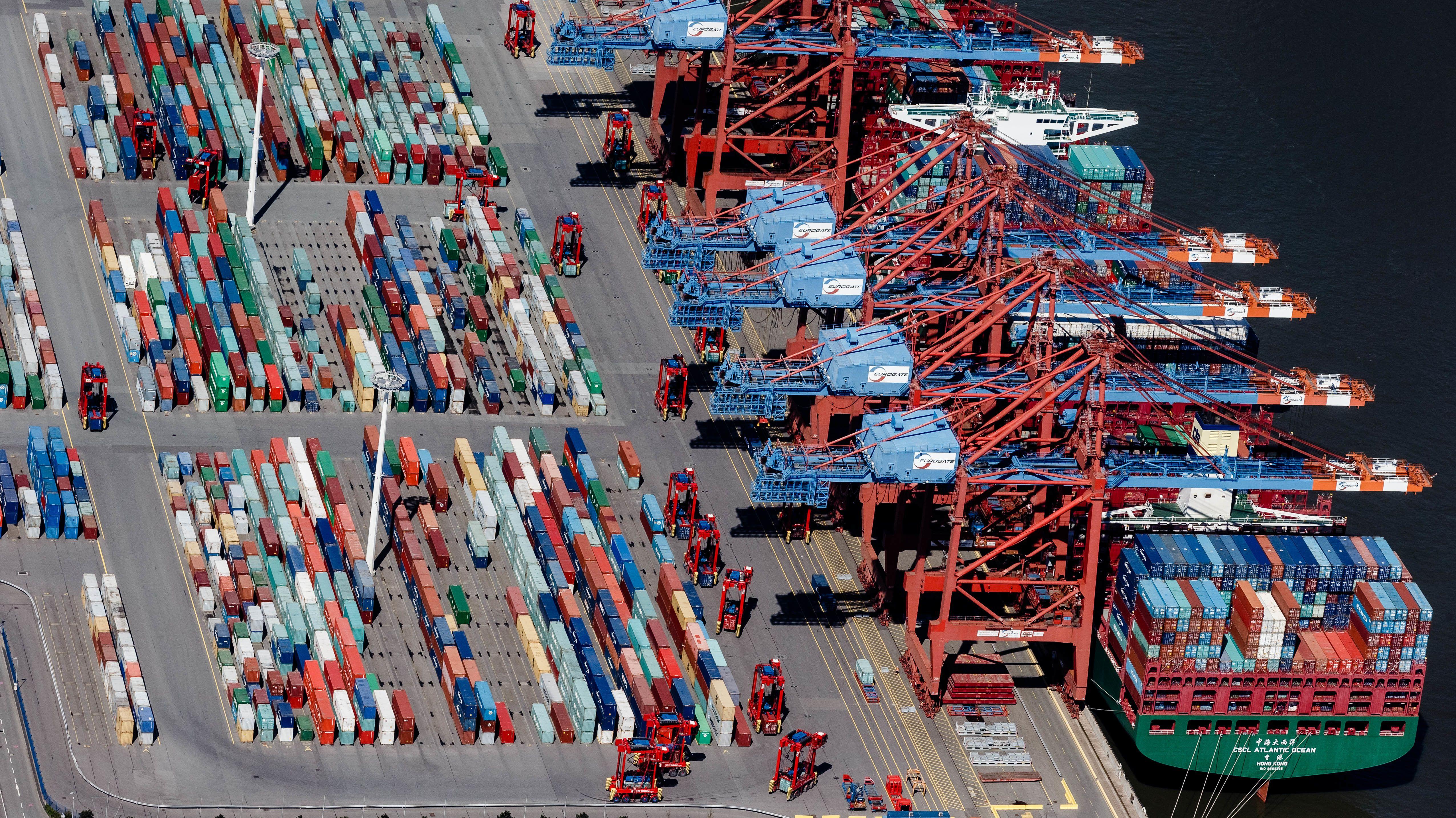 Containerterminal Eurogate in Hamburg