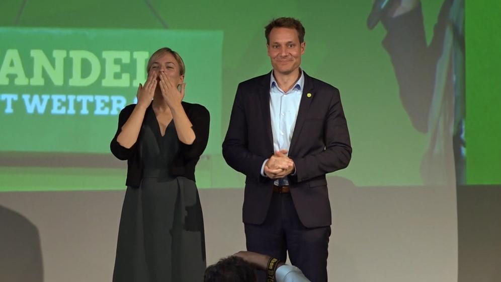 Katharina Schulze und Ludwig Hartmann, das Spitzenduo der Grünen in Bayern | Bild:BR
