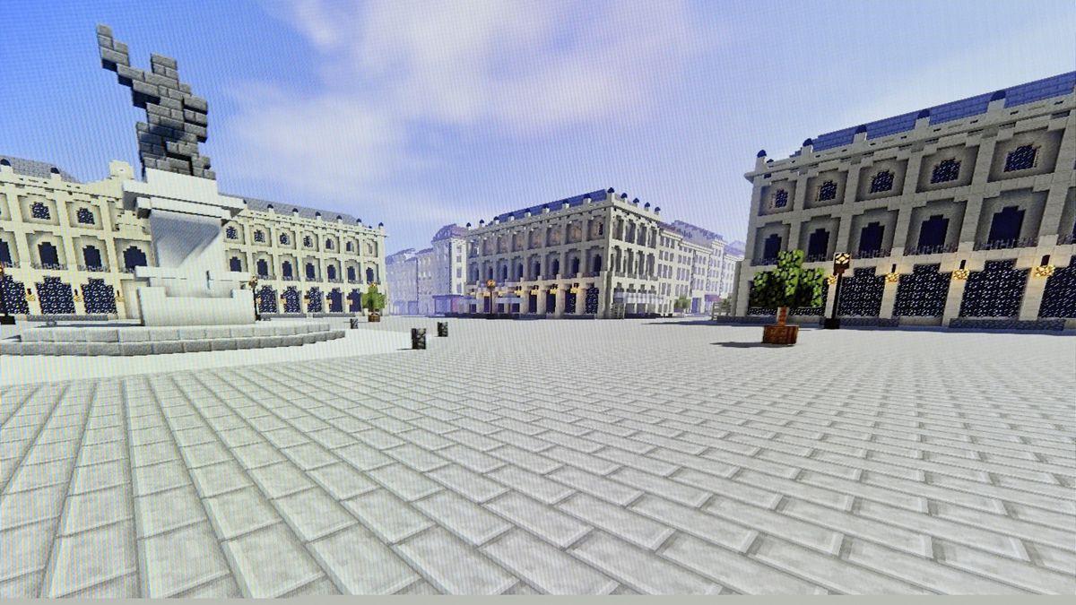 Virtuell erstellte Gebäude im Videospiel Minecraft (Symbolbild)