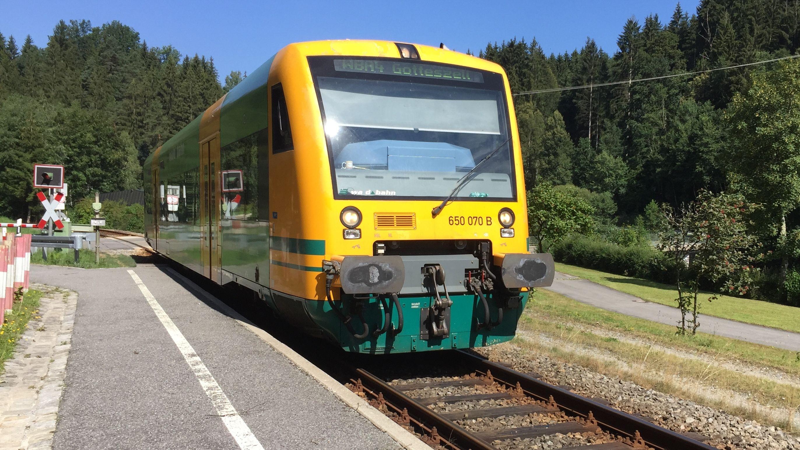 Waldbahn auf der reaktivierten Strecke Viechtach-Gotteszell