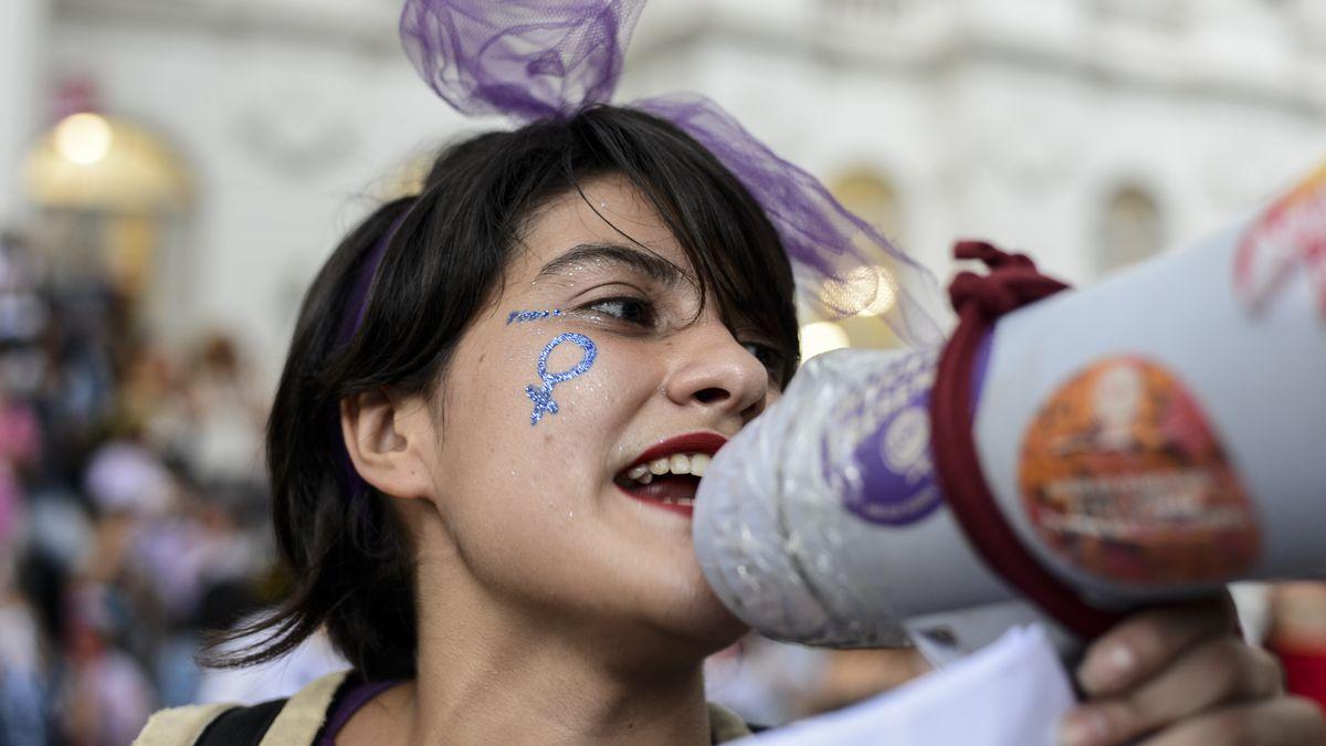 Demonstration zum Internationalen Frauentag