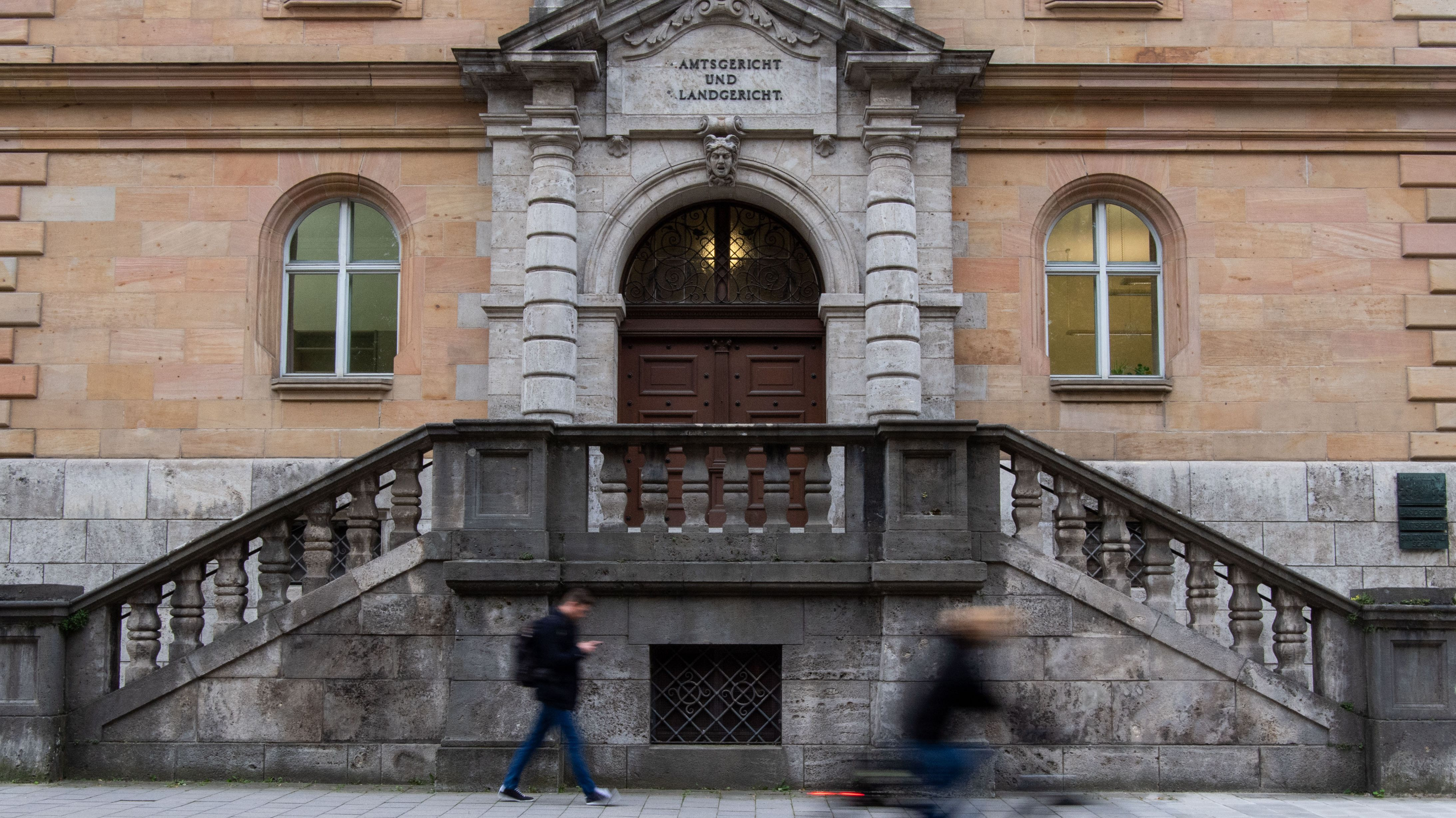 Das Portal des Regensburger Landgerichts