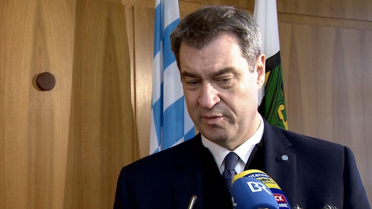 Bayerns Ministerpräsident und CSU-Chef Markus Söder in Hof