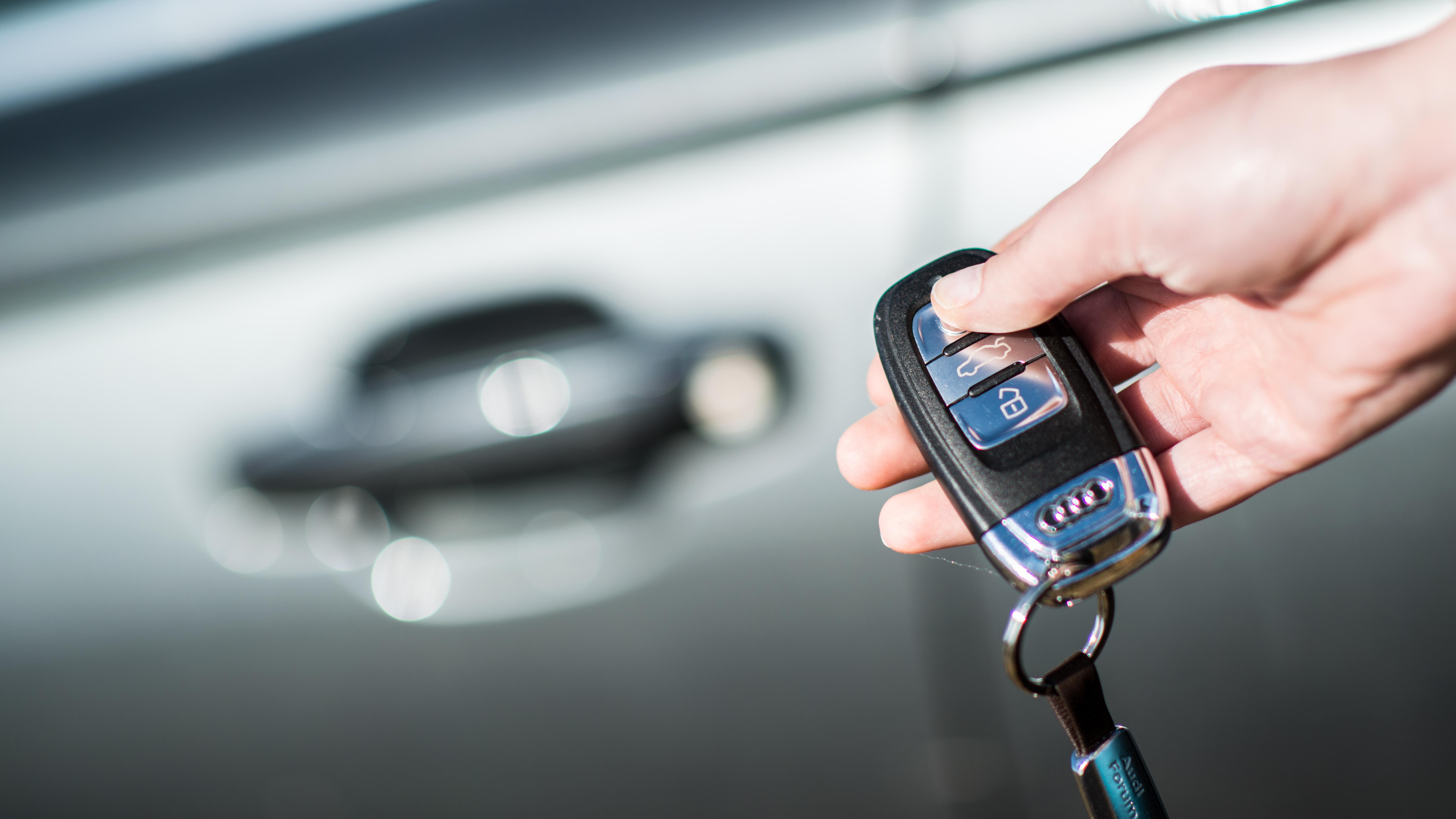 Ein Auto mit Keyless-Go-System
