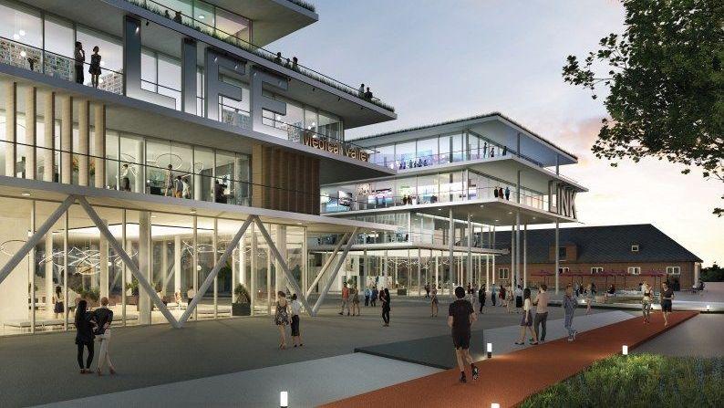 Eine Grafik des künftigen Medical Valley Centers.