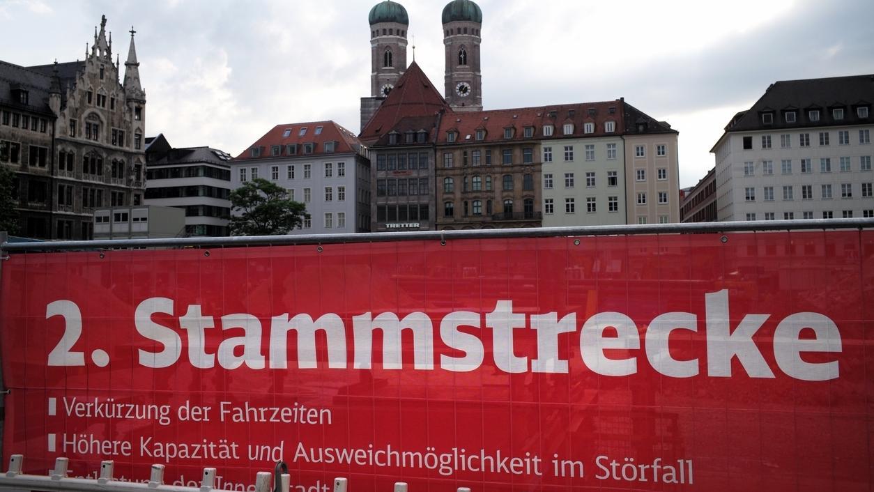 Symbolbild: zweite S-Bahn-Stammstrecke in München